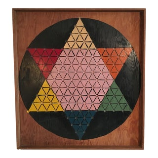 Hand Carved & Painted Chinese Checkers Board