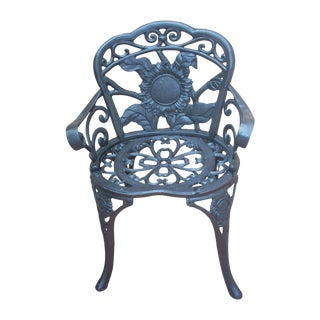 Antique Wrought Iron Garden Chair