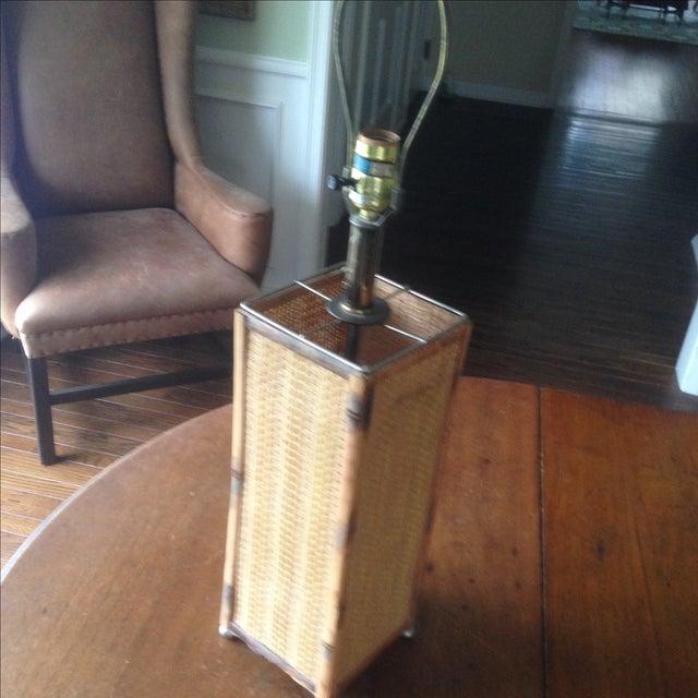 Image of Vintage Rattan Table Lamp