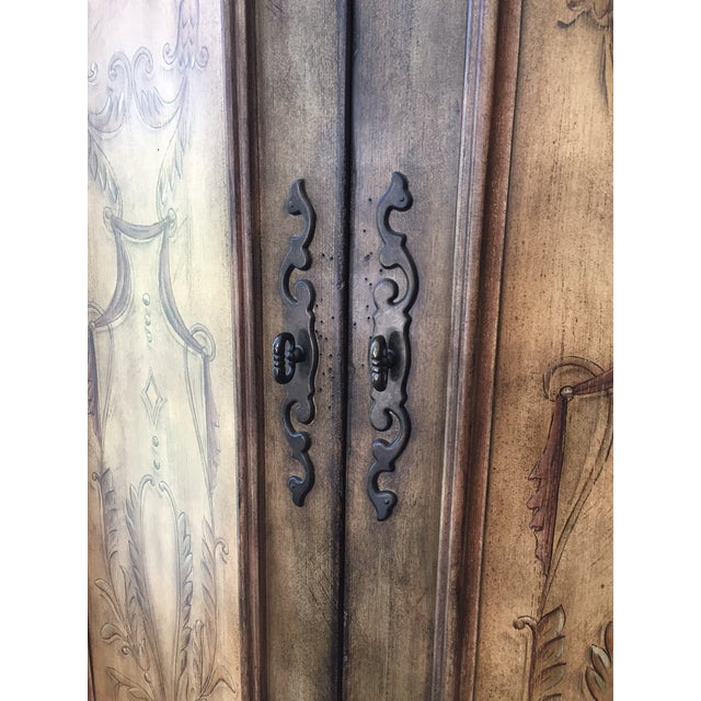 Hooker Furniture Hand Painted Armoire - Image 6 of 8
