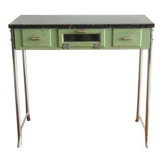 Art Deco Barber's Desk, Tubular Chrome & Bakelite