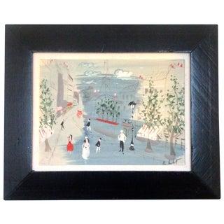 Paris Street Scene Painting by Charles De Montfort