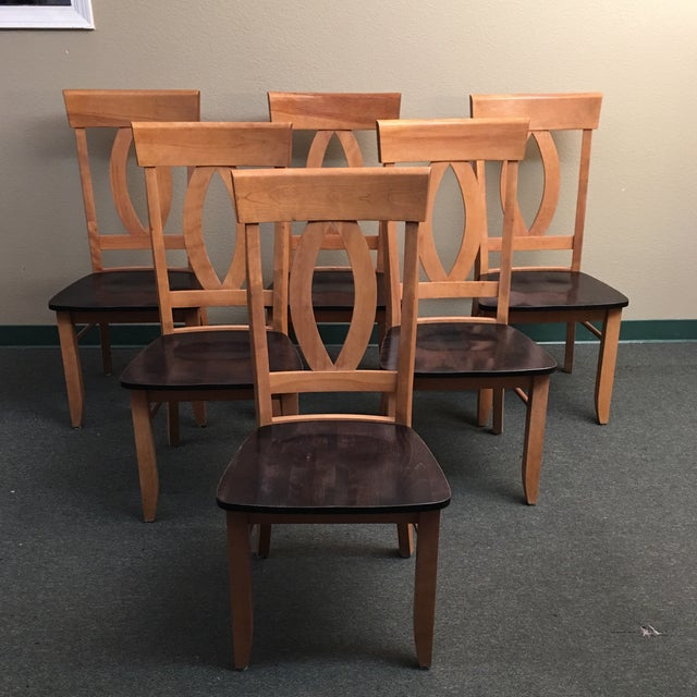 custom maple dining room chairs set of 6 chairish