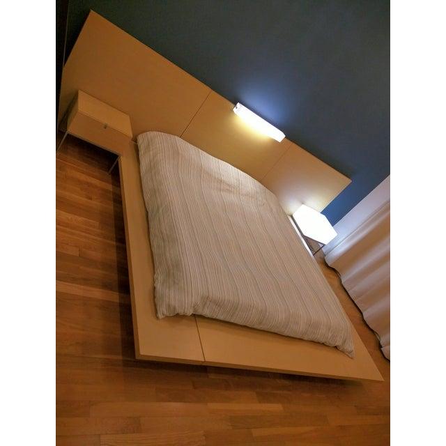 Image of Custom Platform King Bed with Light & Nightstand