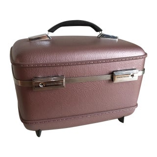 Pearlescent Purple American Tourister Train Case