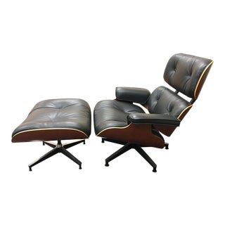 Herman Miller & Charles Eames Lounge Chair With Ottoman