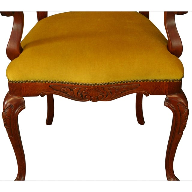 Image of Italian Rococo Arm Chair with Inlaid Marquetry