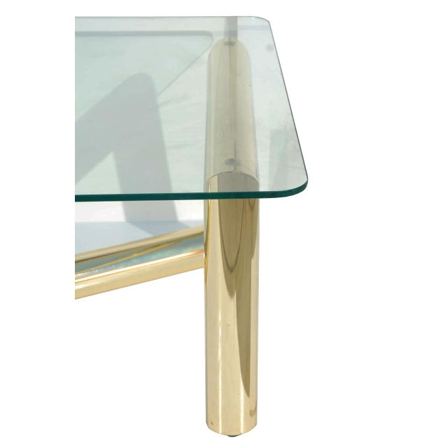 Pace Style Brass Tubular Coffee Table - Image 4 of 5