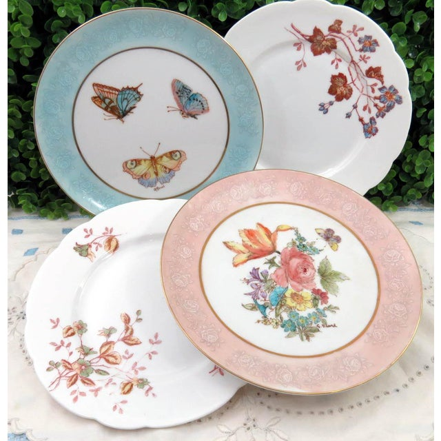 Mismatched Vintage Hand Painted Plates - Set of 4 - Image 2 of 11