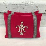 Image of Red Appliqued Pillows - a Pair