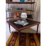 Image of Danish Modern Teak Coffee Table with Tapered Legs