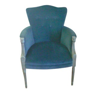 1940s Velvet Accent Chair