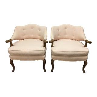 Vintage Slipper Chairs - A Pair