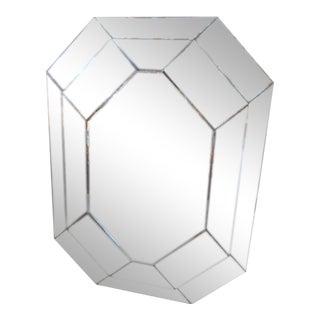 Vintage Layered Octagon Mirror