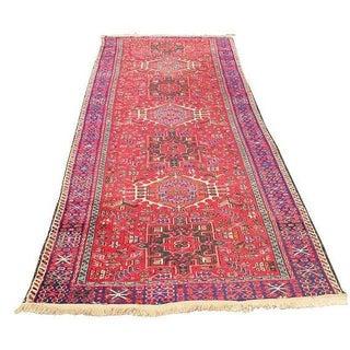 Antique Persian Heriz Runner Rug - 4′7″ × 12′4″