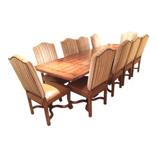 Alder & Company Trestle Dining Table & Chairs - Set of 11
