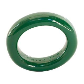 Trina Turk Resin Emerald Bangle Bracelet
