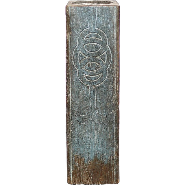 Mythical Turquoise & Brown Pillar Candle Holder - Image 2 of 2