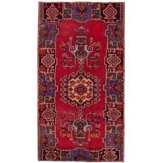 "Apadana - Vintage Persian Hamadan Rug -- 4'2"" x 7'7"""