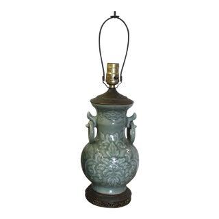 1920's Celadon Porcelain Lamp
