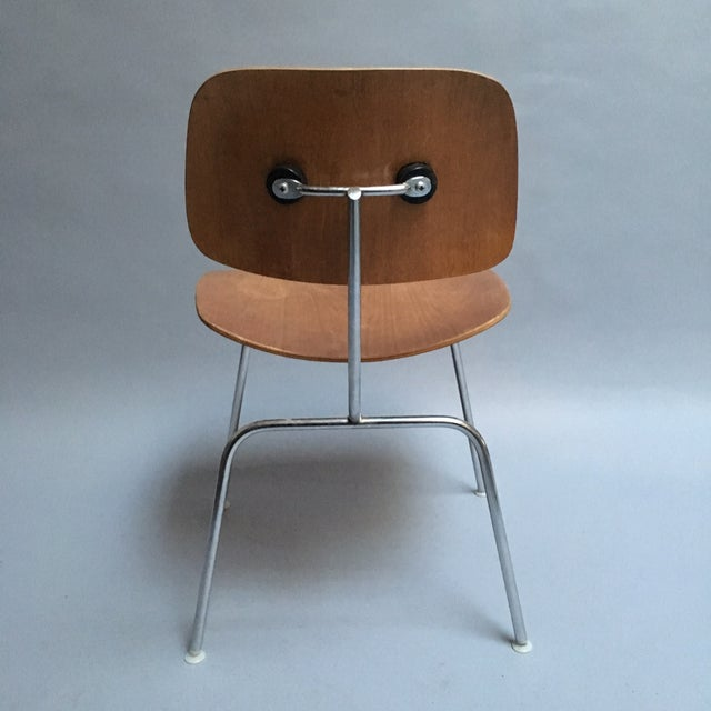 "Vintage Herman Miller Walnut ""DCM"" Chair - Image 4 of 6"
