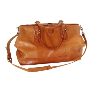 Italian Leather Satchel Carry-On