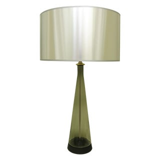 Mid-Century Modern Smokey Glass Murano Table Lamp