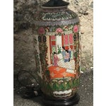 Image of Vintage Chinoiserie Hand-Painted Accent Lamp