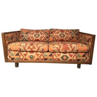 70s Vintage Bohemian Kilim Loveseat Sofa