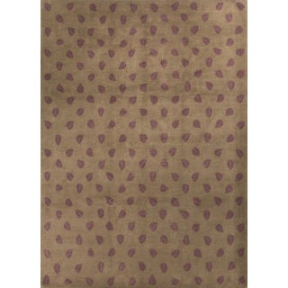 Modern Contemporary Hand Knotted Wool Rug - 9′3″ × 12′2″