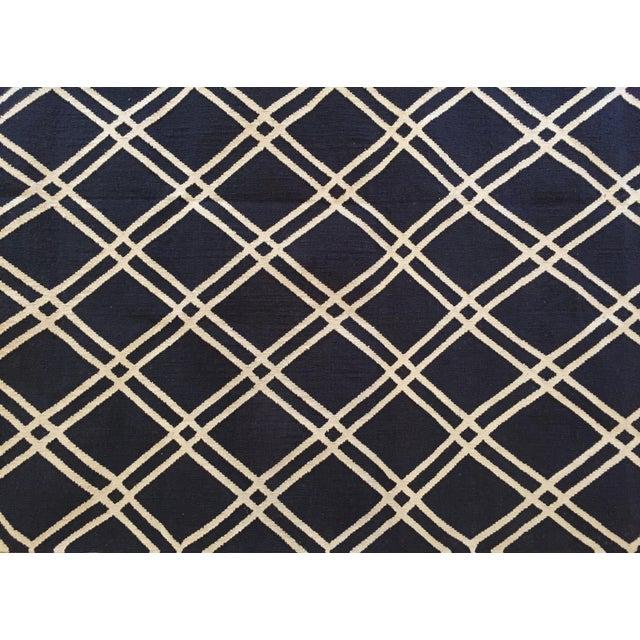 Custom Made Trellis Cotton Dhurrie Rug - 8' X 10' - Image 3 of 5