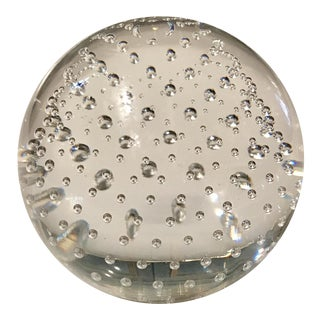 Clear Art Glass Paper Weight