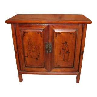 Antique Chinese Elmwood Wooden Chest