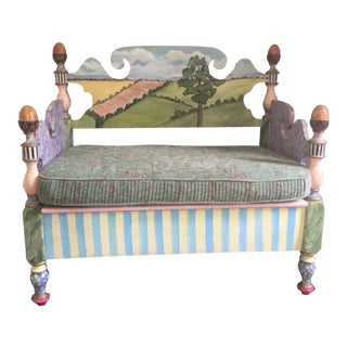 Whimsical Bench in the Style of Mackenzie Childs