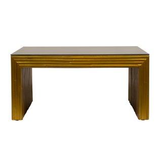 Gilt Bamboo Coffee Table