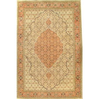 "Pasargad NY Antique Persian Tabriz Hand-Knotted Rug - 8'2"" x 12'6"""