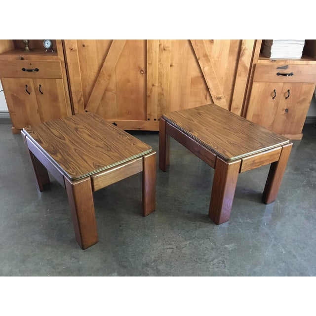 Mid-Century Parsons Style Side Tables - A Pair - Image 4 of 8