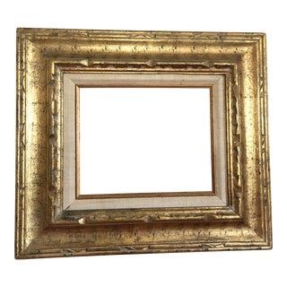 Vintage Gold & Linen Matted Frame