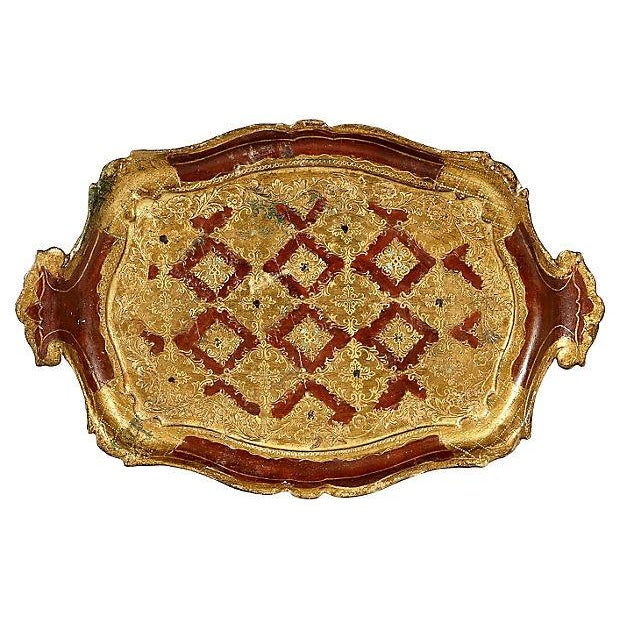 Image of 1960s Small Gilt Florentine Tray