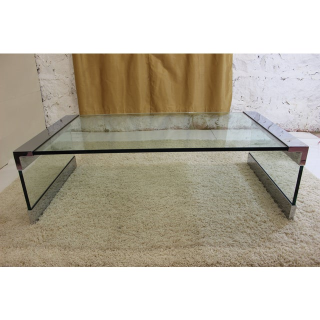 Pace Chrome & Glass Coffee Table - Image 5 of 7