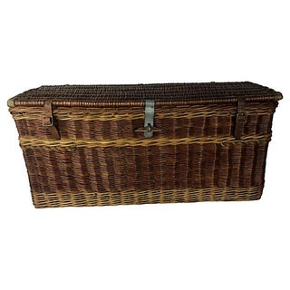 Antique English Carriage Travel Trunk