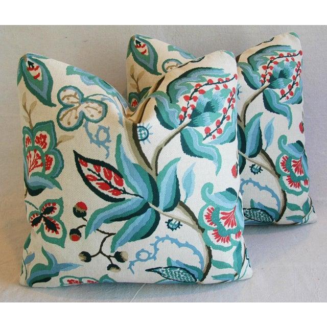 Schumacher Alexandra Floral Velvet Pillows - a Pair - Image 2 of 10