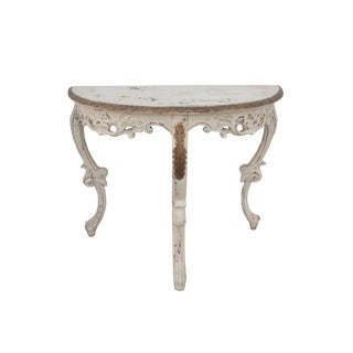 French Carved Demi Lune Console