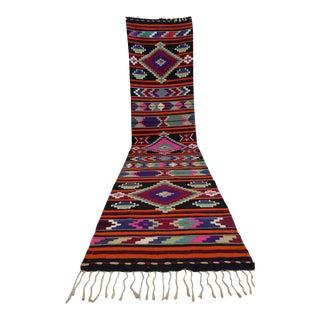 """Vintage Turkish Handmade Kilim Runner Rug - 2'9"""" x 11'11"""""""