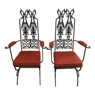 Modecraft Cast Iron Chairs - A Pair