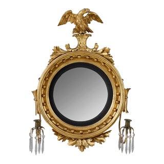 Rare Diminutive Size Girandole Mirror