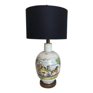 Italian Hand-Painted Table Lamp