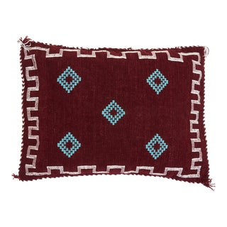 Burgundy Moroccan Wool Pillow Cover
