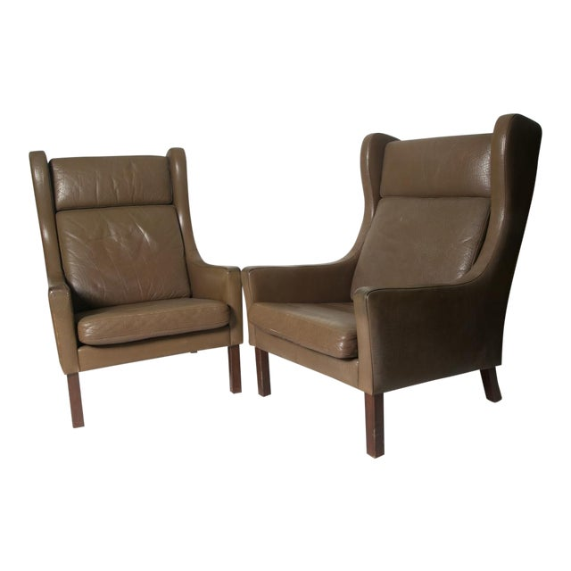 Borge Mogensen Wingback Chairs - Set of Two - Image 1 of 7