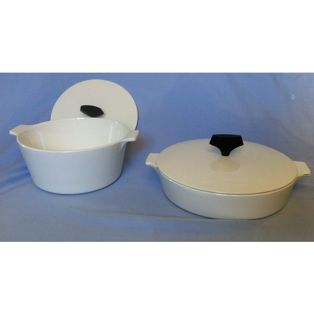 Image of Vintage Corning Ware Casserole Servers - A Pair